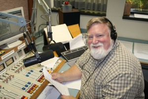 Four decades of broadcasting. Shown here at the mike at WOC in Davenport in July 2007. If I'd known I was going to live this long, I would have taken better care of myself!