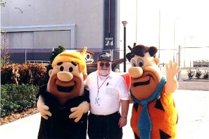 With Fred and Barney in 1995. I'm the one in the middle.