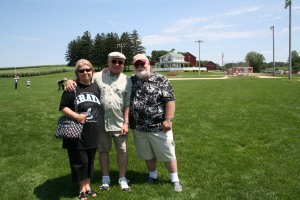"Jini, Dan and I are shown at the ""Field of Dreams"" movie site in outside Dyersville, Iowa."
