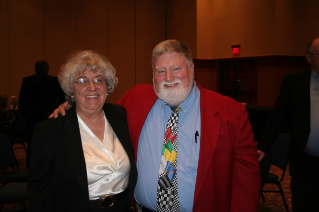 With Nancy Wilson at the 2009 WDRL banquet.