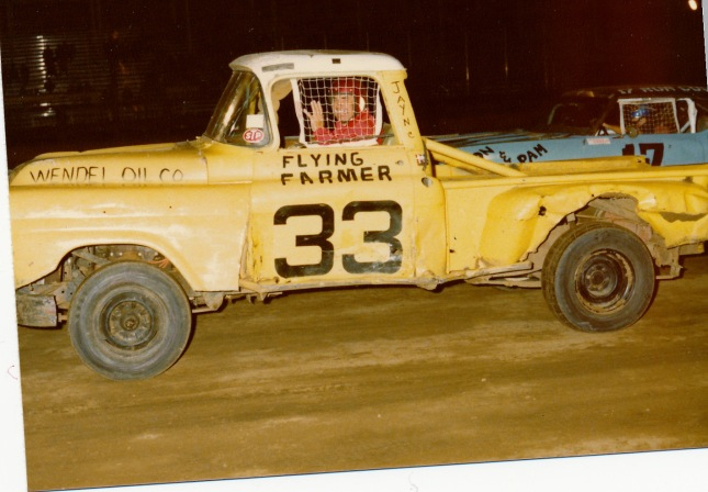 A wave from the Flying Farmer in 1979.  Photo from Phil Roberts collection.