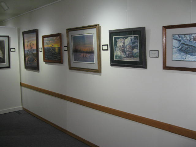 The gallery has a relaxing feel to it.