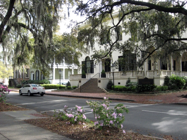 Savannah contains some beautiful old homes.