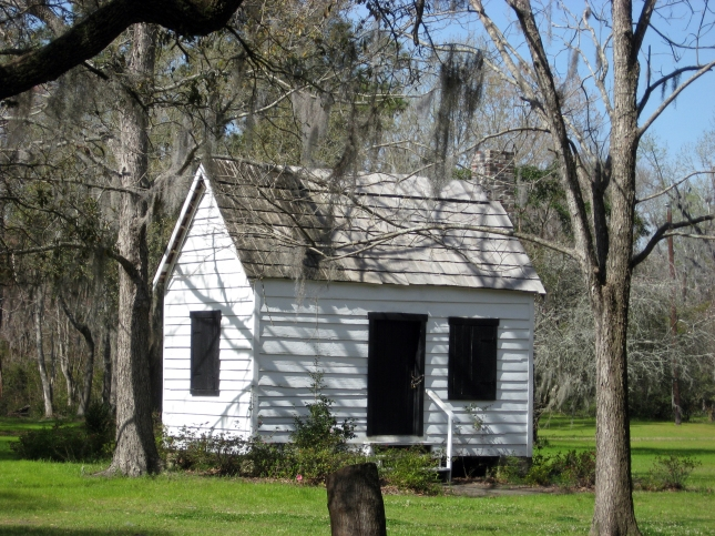 At the Magnolia Plantation in Charleston, S.C., a tram took us past former slave quarters.