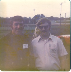 Phil with Davenport driver Terry Ryan.