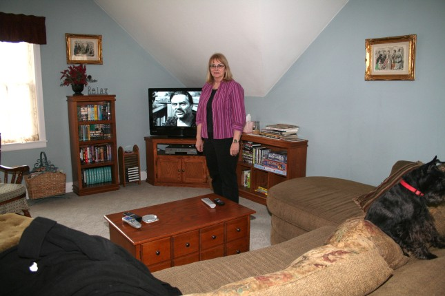 The television room on the second floor.