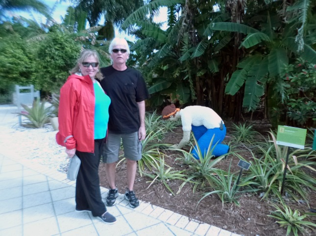 Mike and Cindy at Naples Botanical Garden.
